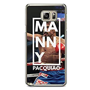Manny Pacquiao Samsung Note 5 Transparent Edge Case - Box