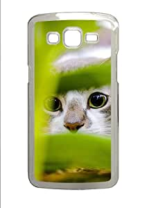 Samsung Galaxy Grand 2 7106 Cases & Covers -Hiding Cat Custom PC Hard Case Cover for Samsung Galaxy Grand 2 7106¨C Transparent