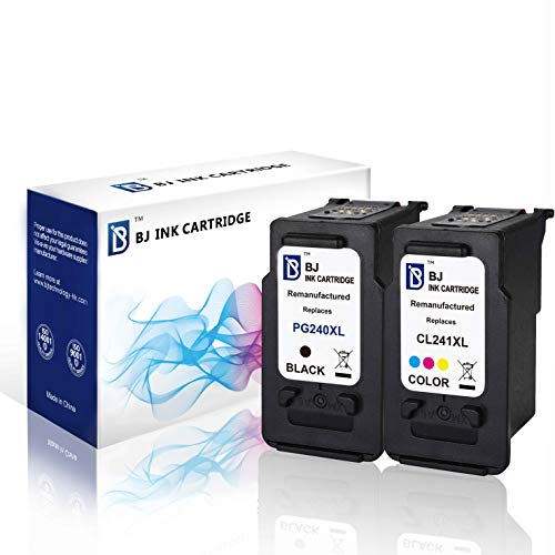 - BJ Remanufactured Ink Cartridge Replacement for Canon PG 240XL/CL 241XL Combo Pack High Yield for Canon PIXMA MG3620 MG3520 MX532 MG2120 MG3120 MG3122 MG3220 MX372 MX432 MX512(1 Black, 1 Color)