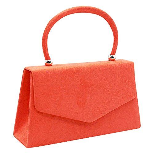 Velvet Envelope Bag Cckuu Evening Prom Handbag Shoulder Burgundy Bag Women's Suede Coral Clutch pqq0FE