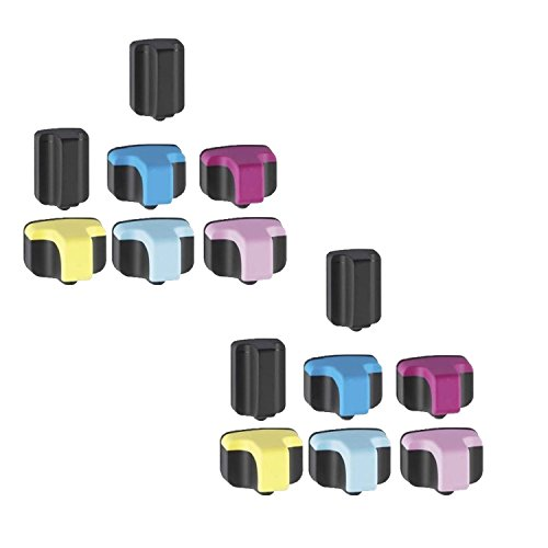 INKWOR Remanufactured Ink Cartridge Replacement for HP 02 ( Black,Cyan,Magenta,Yellow , 14-Pack )