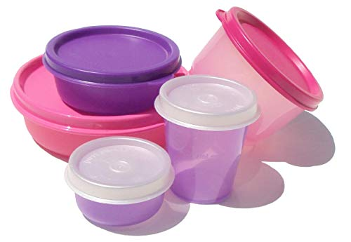 New Tupperware Smidgets Snack Cup Bowls Little Wonders Midgets Pink Purple Set