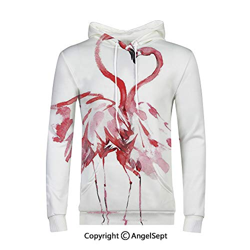 Unisex 3D Pattern Print Athletic Pullover Hoodies Hooded Sweatshirts,Flamingo Decor,Flamingo