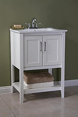 "Legion Furniture 24"" Single Sink Bathroom Vanity with Ceramic Sink Top"