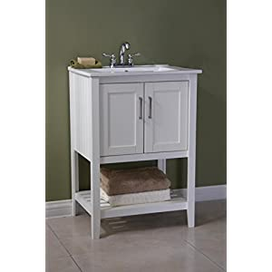 Legion Furniture 24″ Single Sink Bathroom Vanity with Ceramic Sink Top