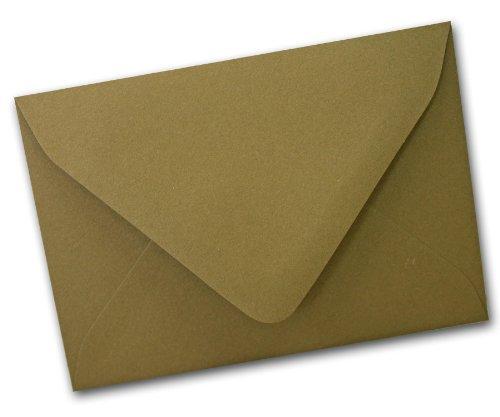 Flavours Thai Basil (Olive Green) A1 Deep Neck Envelopes – 25 Pk, Office Central