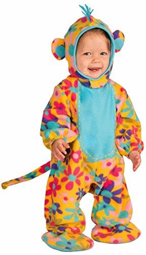 Forum Novelties Baby Boy's Lil' Party Animals Funky Monkey Costume, Multi, (Baby Lil Monkey Costume)