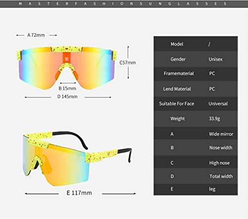 Outdoor Cycling Glasses Kexle Pit Viper Sunglasses UV400 Polarized Sunglasses for Women and Men(Yellow Frame//Yellow Film)