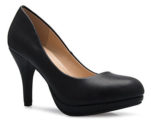 - OLIVIA K Women's Classic Round-Toe Platform Pumps Stiletto Dress High Heels