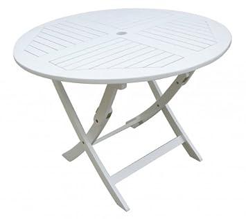 Gartentisch rund  Amazon.de: Gartentisch rund, Holztisch, runder Tisch aus ...