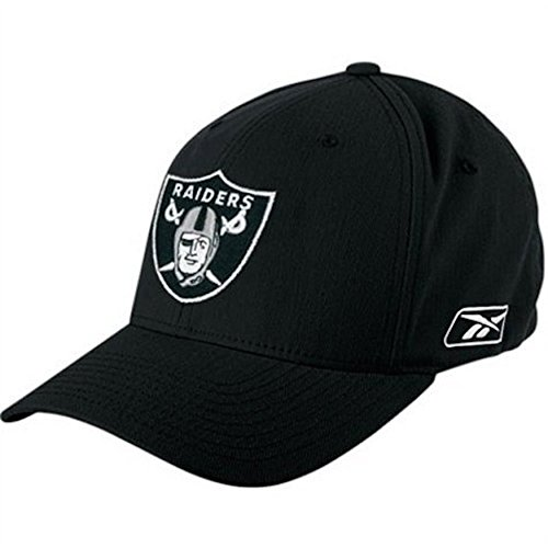 Mens Oakland Raiders Basic Logo Flex Fit Hat - (Osfm Flex Cap)