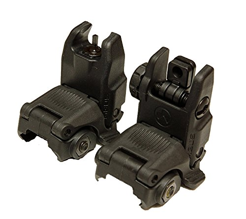 Magpul Industries USA Mbus Generation Ii Backup Sights Front & Rear Set (Sporting Rear Sight)