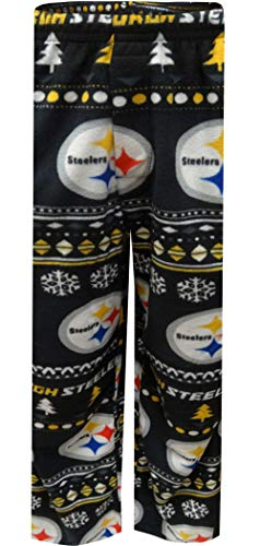 Concepts Sport Men's Pittsburgh Steelers Guys Winter Fleece Lounge Pants (Medium) Black