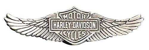 (Harley-Davidson Men's Bar & Shield Wings Pin, Zinc Alloy Finish, Silver P339066)