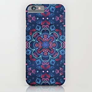 Cherry Red; Navy Blue Watercolor Floral Pattern For SamSung Galaxy S3 Case Cover Case by Micklyn