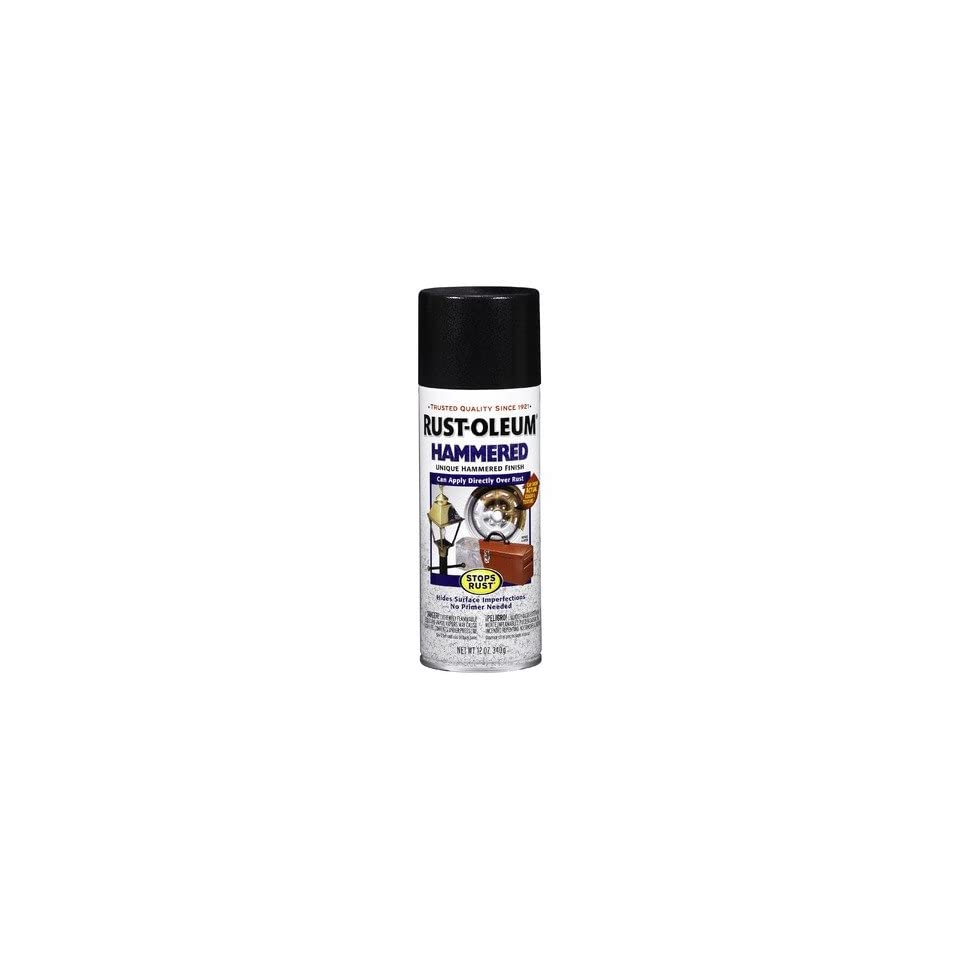 Black Hammered Enamel Aerosol Spray Paint 7215 830 [Set of 6]