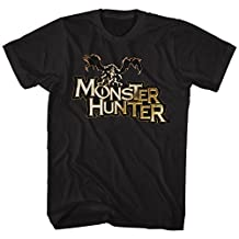 Monster Hunter Capcom Mh Logo Action Role Playing Video Game Adult T-Shirt