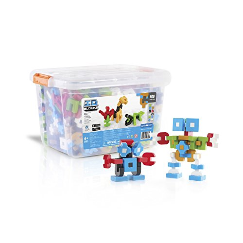 Guidecraft IO Blocks 500 Piece Educational STEM Set, Digital Pixelated Building Toy