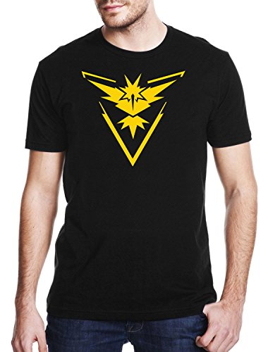 TEAM-INSTINCT-Gaming-T-shirt-Pokemon-GO-T-shirt-Unisex-Adults-Geek-Nerd-T-shirt-Mens-Comedy-T-Shirt