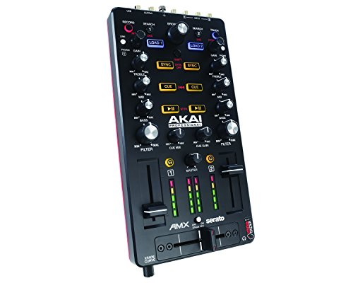 Akai Professional AMX | Ultra-Portable USB Powered DVS-Enabled  2-Deck Mix Controller Including Serato DJ