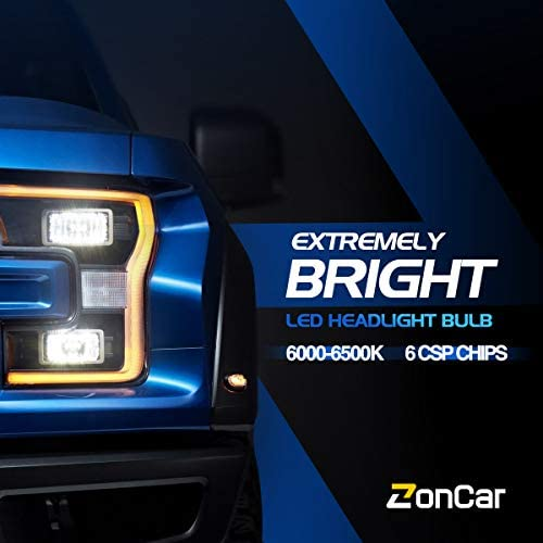 ZonCar 9005 H11 LED Headlight Bulbs High Low Beam Combo Kit, CSP LED Chips, 16000LM 6500K Super Bright White LED Headlights 4 Pack