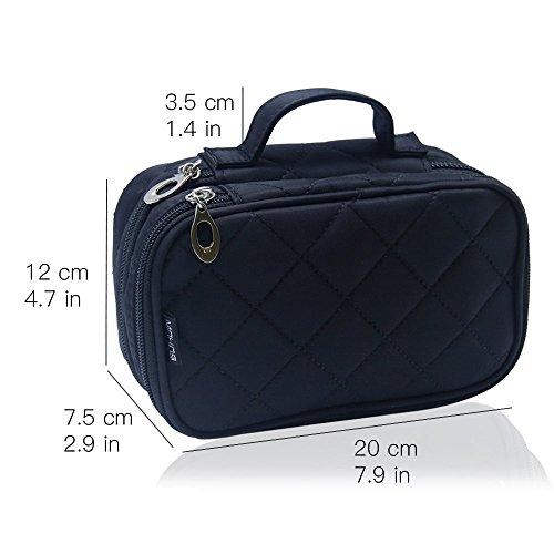 Monstina Cosmetics Bag,Double Layer Makeup Bag, With -7260