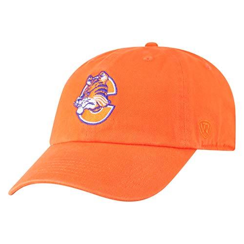 (Top of the World NCAA Clemson Tigers Men's Adjustable Vault Team Hat, Orange)
