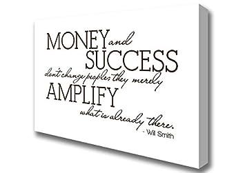 Zitate Will Smith Geld Und Erfolg Schokolade Leinwand Art