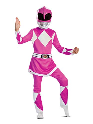 Pink Girl Costume (Disguise Pink Ranger Deluxe Child Costume, Pink,)