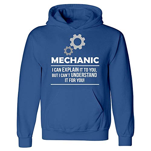 Engineer Occupations Mens Hoodie - Bricke Mechanic I Can Explain It Engineer Occupation - Hoodie Royal Blue