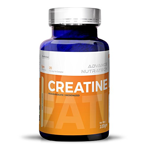 Creatine Monohydrate unflavored 100 gm For Beginners by ADVANCE NUTRATECH
