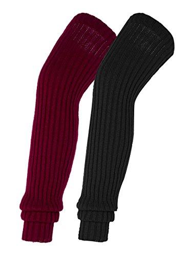 Urban-CoCo-Womens-Winter-Knee-High-Footless-Socks-Knit-Crochet-Leg-Warmer-2