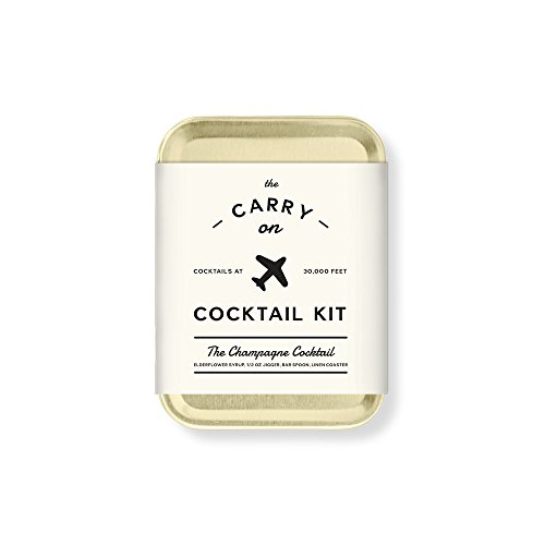 W&P MAS-CARRYKIT-CC Carry on Cocktail Kit, Champagne Cocktail, Travel Kit for Drinks on the Go, Craft Cocktails, TSA Approved (Booze Traveler Best Bars)