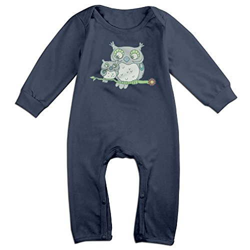 Ab Soul Costume (Baby Girls Boys Owl Long Sleeve Romper Jumpsuit 18 Months Navy)