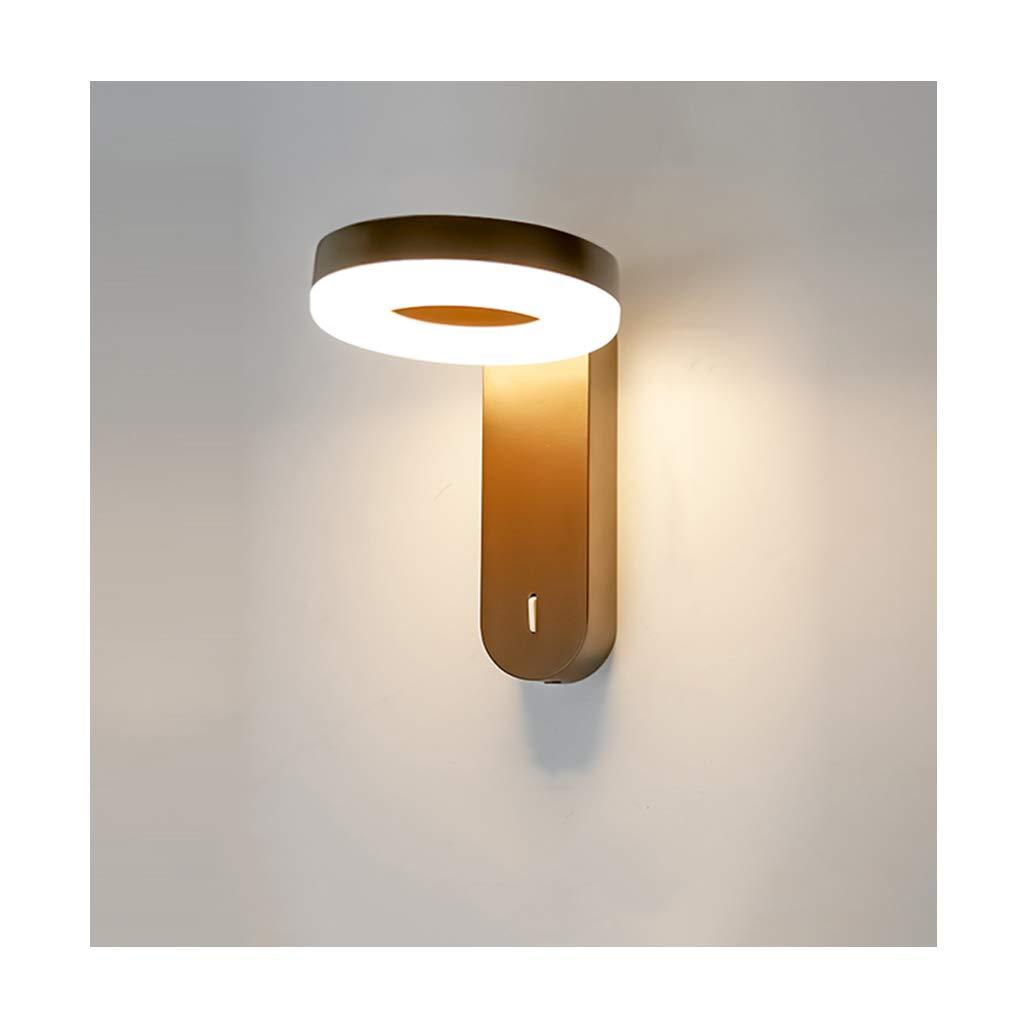 wandlampe Wandleuchte LED Modern Minimalist Lampenkopf Rotierenden Wohnzimmer Schlafzimmer Korridor Wandleuchte Schlafzimmerleuchten (Farbe   B)