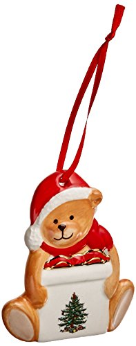 Spode Christmas Tree Ornament, Teddy Bear (Ornament Bear Teddy Christmas Tree)