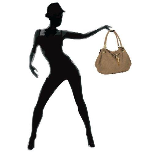 Taschen amp; Sac Caspar L'épaule Femme Pour Accessoires Porter Kaki À wOS5d5q