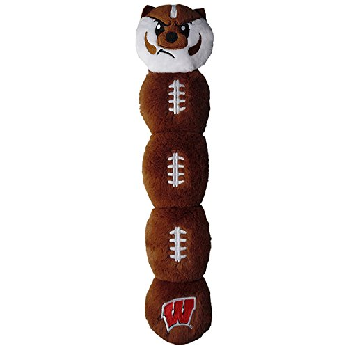 (Wisconsin Badgers Pet's First Plush 5 Squakers Mascot Caterpillar Long Toy)
