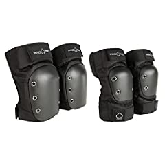 Shred like the pros at the skatepark or on the street with only the best equipment! The Pro-Tec Street Knee and Elbow Pad Set is the standard for action sport protection and the top choice by skaters and cyclists in the industry. Featuring fu...