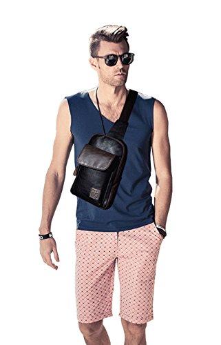 KatyPaul Men's Casual Daypack Chest Cross-body Weekender Backpack Bag