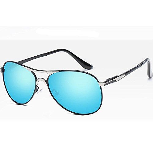 metal de de comodidad sol del C6 la Moda UV400 HAOYUXIANG de lente Lente ligeras C8 retro Color polarizadora de los hombres gafas la ES6Hw