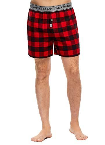 Fox + Badger Men's Loungewear | Cotton Boxers Shorts Size - Shorts Cotton Badger