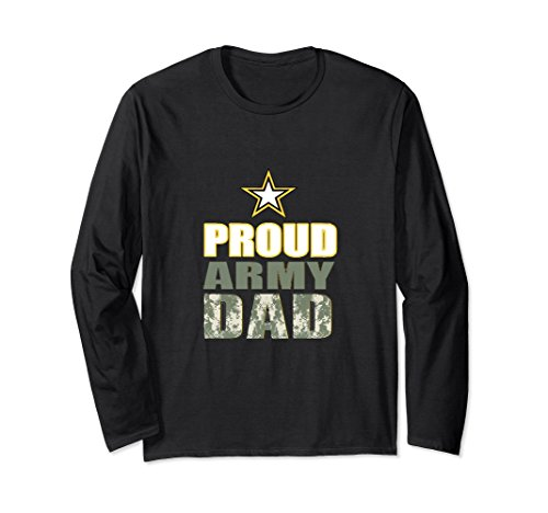 Unisex PROUD ARMY DAD CAMO LETTERS LONG SLEEVE SHIRT Large (Army Adult Long Sleeve T-shirt)