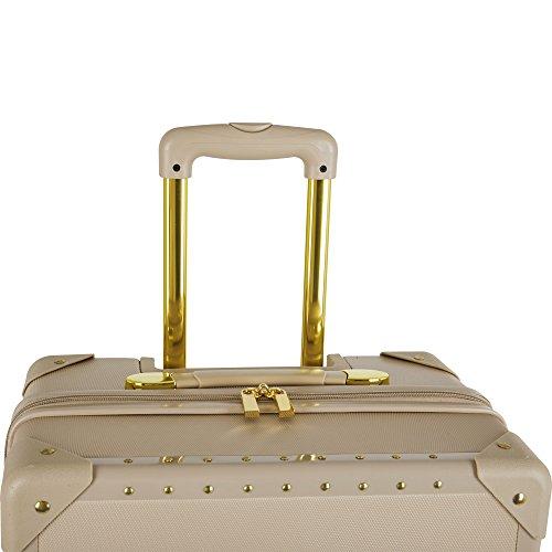 Vince Camuto 3 Piece Hardside Spinner Luggage Set, Latte