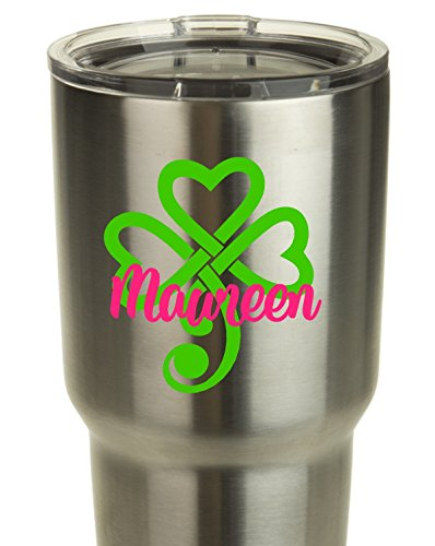 celtic-style-shamrock-with-name-or-kiss-decal-sticker-works-on-yeti-rtic-coffee-mug-car-window-lapto
