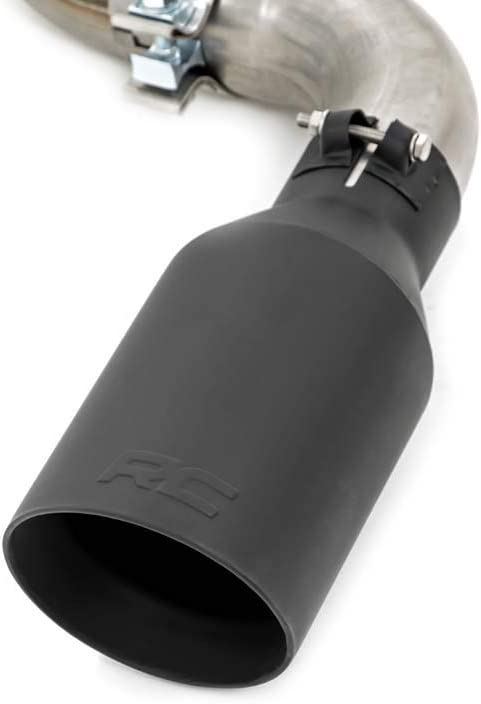Each 2.5-3 Rough Country Black Exhaust Tip 304 Stainless Steel 96004