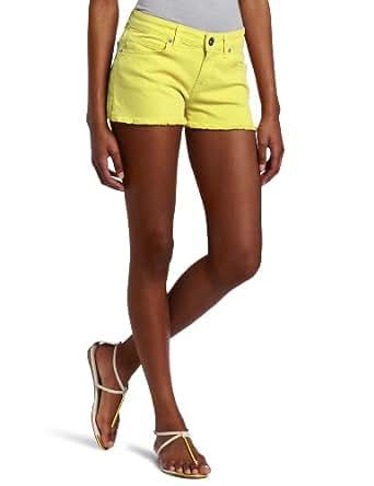 Rich & Skinny Women's Venice Short, Bright Lemon, 32