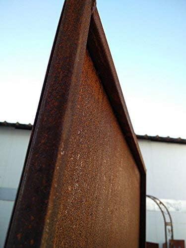 Edelrost Sichtschutz Wand Rost Garten Sichtschutzwand Gartenzubehör H75*100 cm
