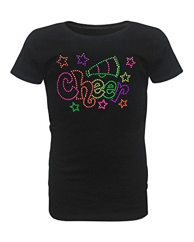 (Zone Apparel Girl's Youth Cheer Star T-Shirt Large)