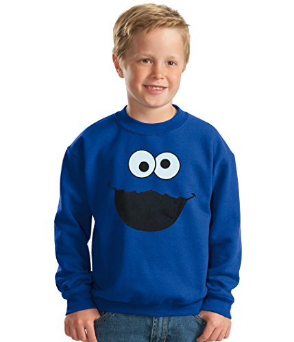 Animation Shops Cookie Monster Face Toddler Sweatshirt-2T